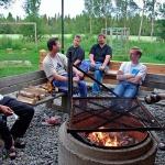 Sanginjoki fireplace