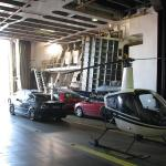 Helikopteri lautan autokannella