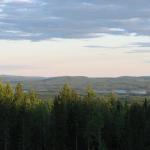 Norsjön kumpuilevia maisemia hotellilta