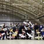 F3P Sport ja Aeromusicals osallistujat ryhmäkuvassa